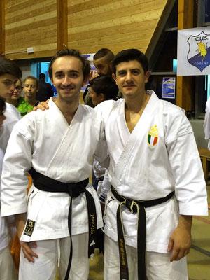 Manu con il campione del Mondo Lucio Maurino - 2015 Bardonecchia