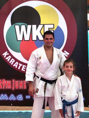 Francesca con il campione del Mondo Luca Valdesi - 2015 WKF Croazia