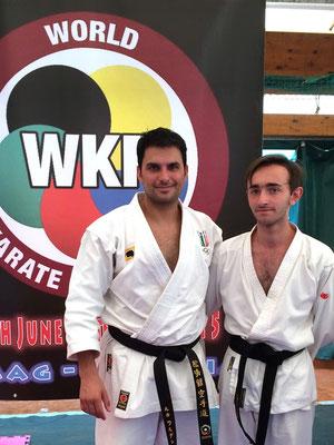 Manuel con il campione del Mondo Luca Valdesi - 2015 WKF Croazia