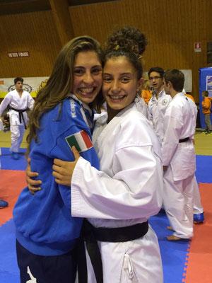Annalisa con la campionessa Europea Clio Ferracuti - 2015 Bardonecchia
