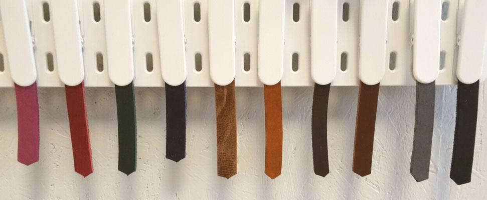 Feinstes Leder in unterschiedlichen Farben zur Auswahl - suchen Sie sich ihre Lieblingsfarbe aus!