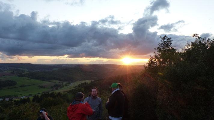 Sonnenuntergang an der Kupferberg Hütte