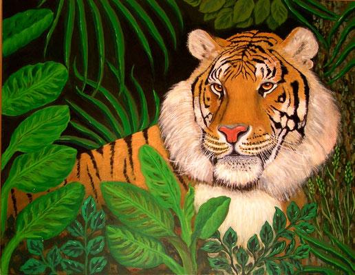 Tiger, 70x90, Acryl auf Leinwand