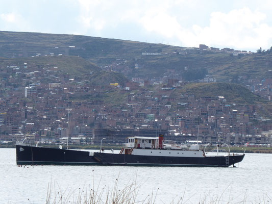 In England gebaut, zerlegt, in Teilen über die Anden geschleppt und am Titicacasee wieder zusammengebaut