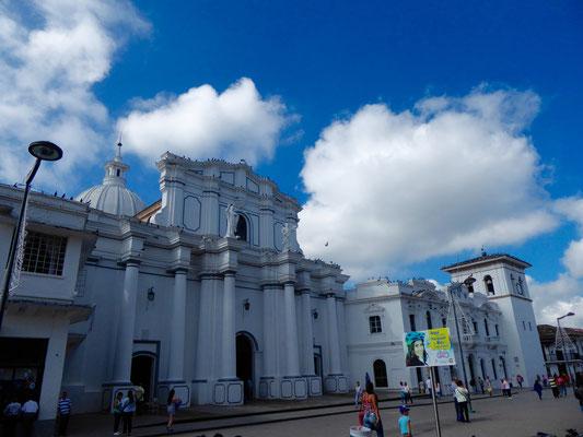 Die weißgetünchte Kathedrale von Popayán
