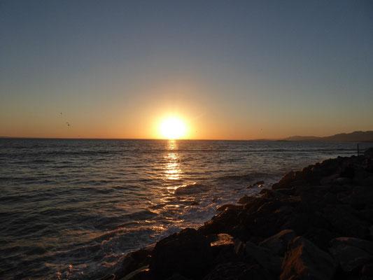Sonnenuntergang am Hobson Beachh