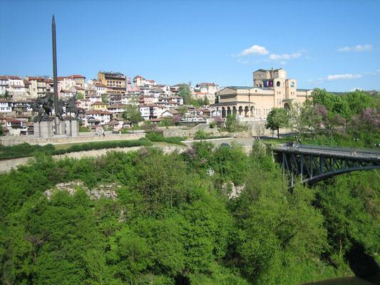 Blick aus dem Hotelzimmer auf Veliko Tarnovo