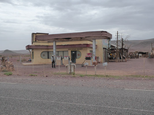 Und auch diese Tankstelle steht nicht an der Route 66