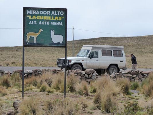 fast geschafft: Mirador auf 4.410 Höhenmeter