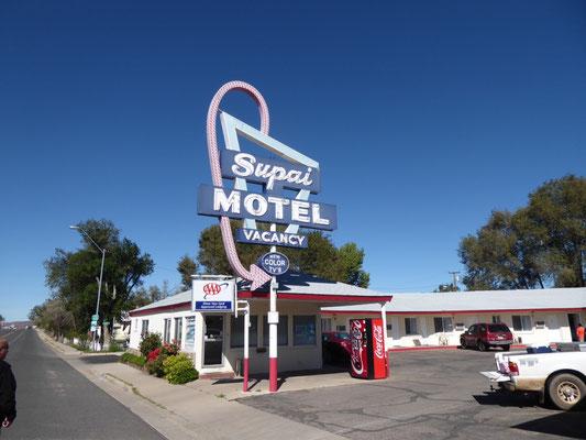Unser Motel in Seligman (natürlich unter indischer Leitung)