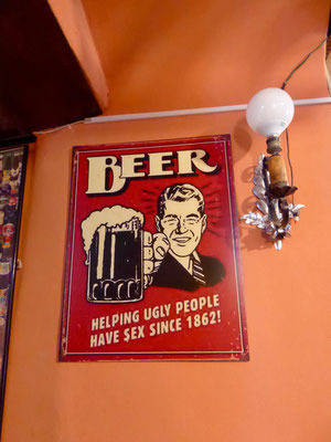 In dieser wunderschönen Pinte gönnten wir uns zwei Bierli