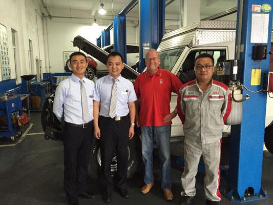 Zweite Toyota-Inspektion auf der Reise
