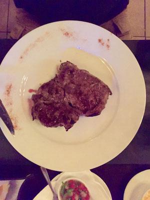 Das zweitbeste Steak der Reise. Natürlich in Uruguay!