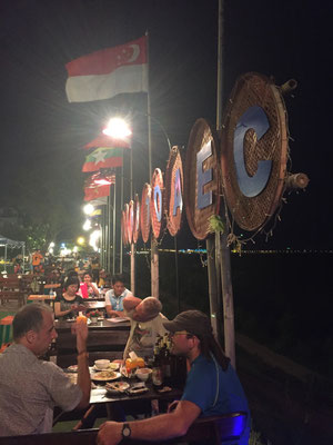 Samstagabend am Mekong