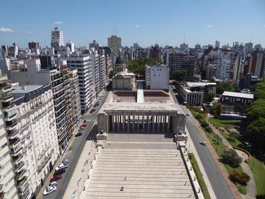 Blick vom Obelisken des Monumento de la Bandera