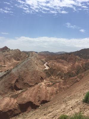 Die Danxia-Landschaft bei Zhangyie