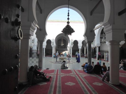 Blick in die Karaouyine-Moschee (hier passen 20.000 Menschen rein - und die ist freitags immer voll)