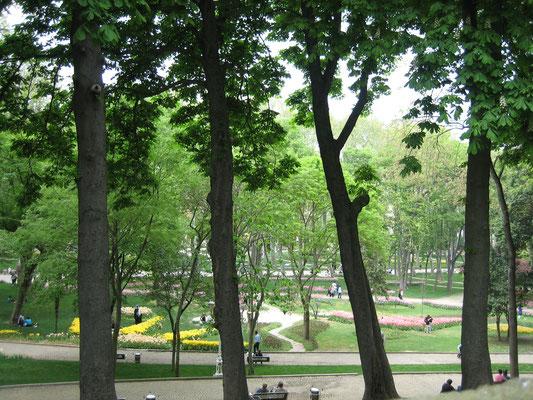 Park unterhalb des Topkapi-Palastes