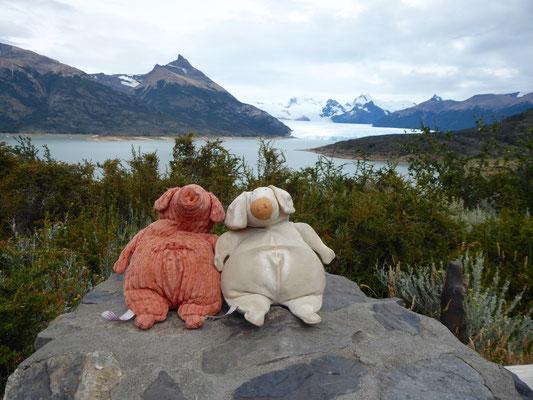 Moreno und Perito vor gleichnamigem Gletscher