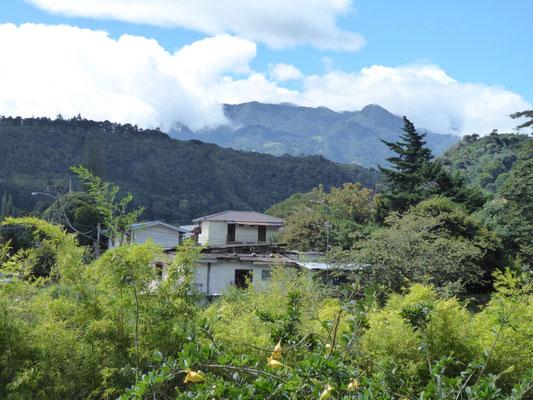 Blick vom Hotel über Boquete
