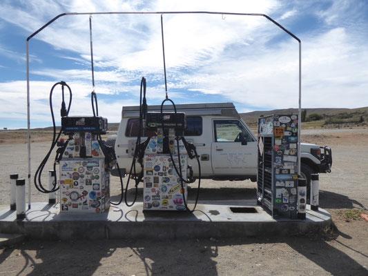 Einsame Tankstelle, teurer Sprit