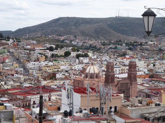 Blick vom Hotel Baruk auf Zacatecas