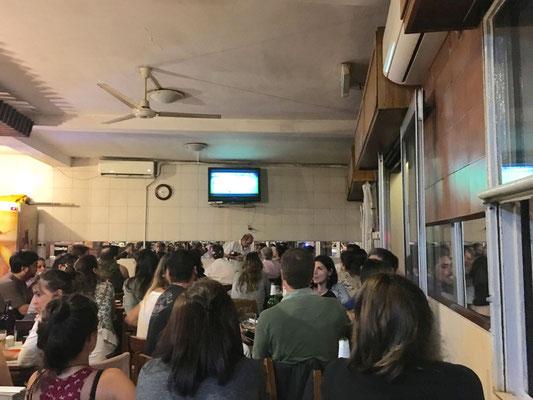 Fußballabend: Uruguay gegen Brasilien ging leider 1:4 verloren.