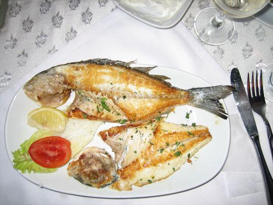 Hier gibt's leckeren Fisch...