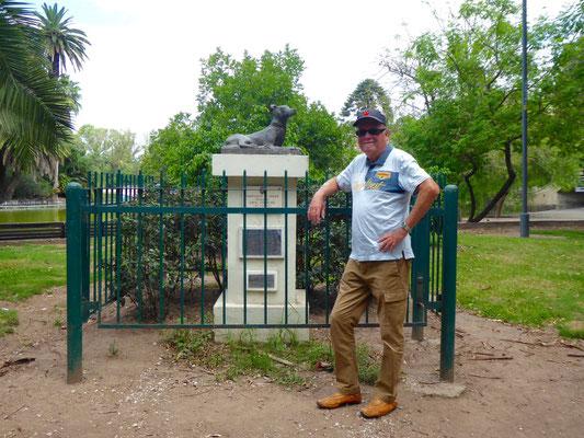 Endlich mal ein sinnvolles Denkmal: den Straßenhunden der Stadt gewidmet