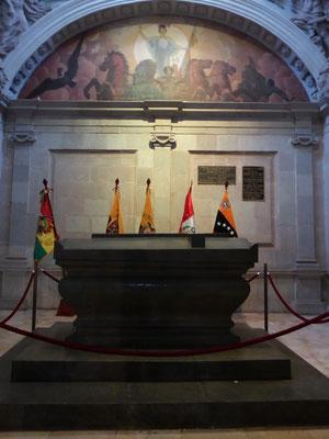 ... befindet sich General Sucres Grabstätte