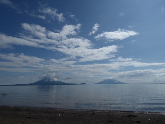 Vulkane auf der Insel Ometepe im Lago Nicaragua