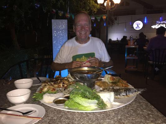 Empfehlung des Kellners: die Super-Plate
