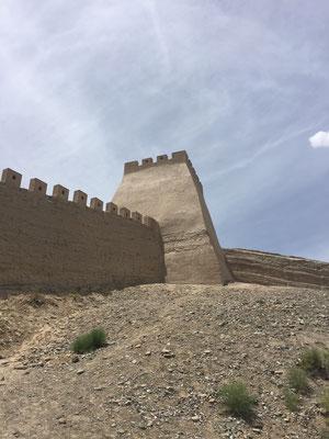 Erster Blick auf die Chinesische Mauer (leider eine Replika)