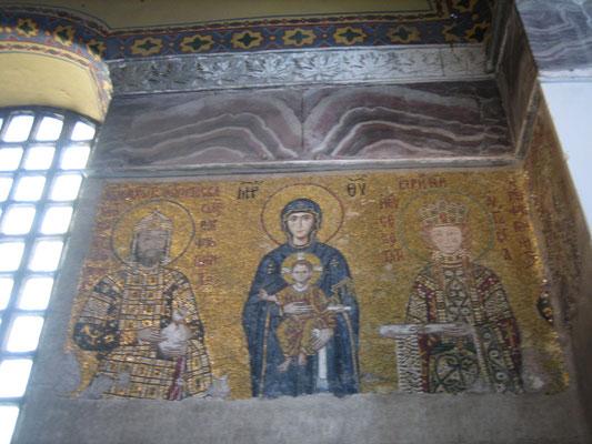 Byzantinisches Mosaik in der Hagia Sophia