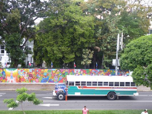 """Auch wenn der Bus grün ist, nennt man ihn """"Diablo rojo"""" (roter Teufel)"""