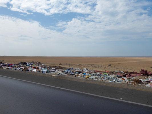 Müll am Wegesrand
