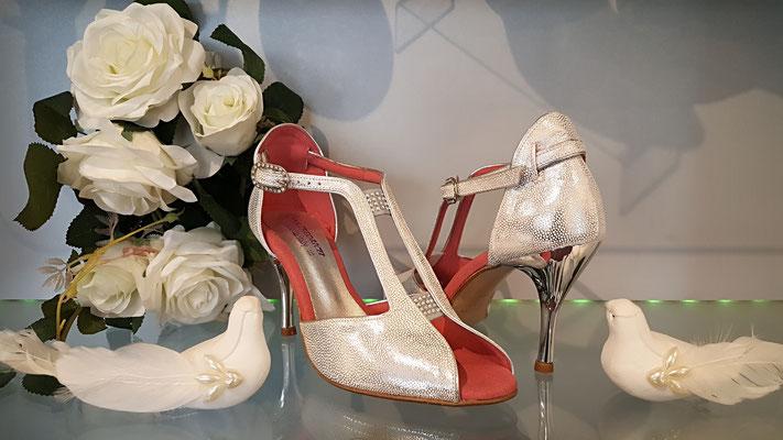 Brautschuhe Tanzschuhe Tango Schuhe von Anna Fredrich Italian Dance Shoes