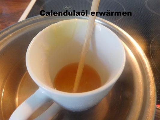 Wasserbad für Calendulaöl