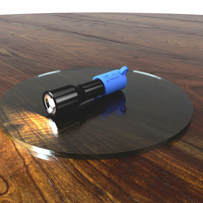 3dtw Taschenlampen Halteclip v2 Entwurf.
