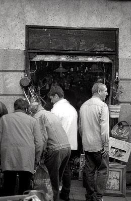 Rastro de Madrid, 2012. Fotografía a las sales de plata.