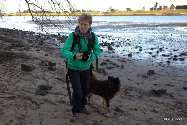 Dr. Michaela Witte mit Birka vom Brenztal