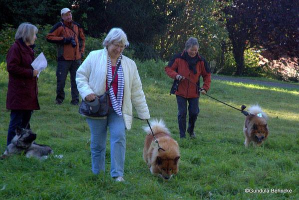 Edith Marahrens mit Bronja von der Wettloopsheide(vorne) und Ingrid Winkens-Wegner mit Buddy von der Wettloopsheide(hinten)