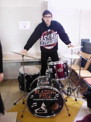 Foto von Schlagzeuger Tristan Claves: Petra Schaffner