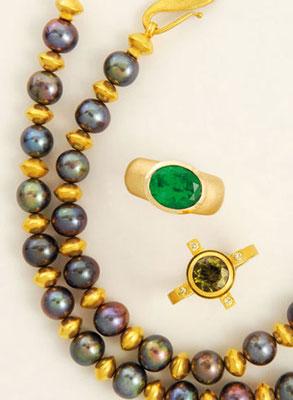 Kette - 585/- Gelbgold / Perlen - - - - - € 1.150,-