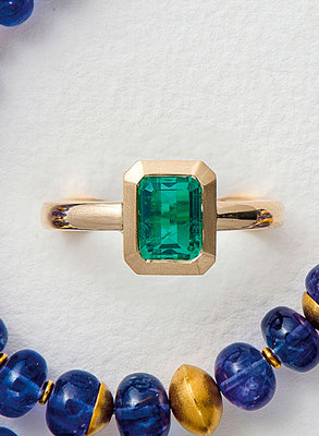 Ring – 18 kt Gold / Smaragd-Dublette --- € 1.350,-