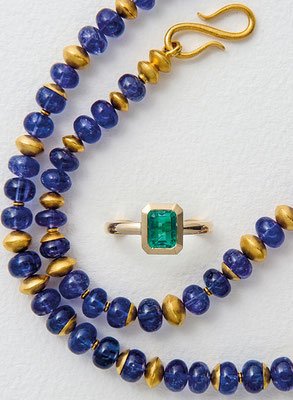 Kette – 14 kt Gold / Tansanit - - - - - - - - € 2.780,-