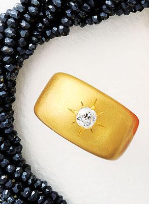 Ring - Gelbgold / Brillanten 0,36 ct - - - - - - - -€  1.480,-
