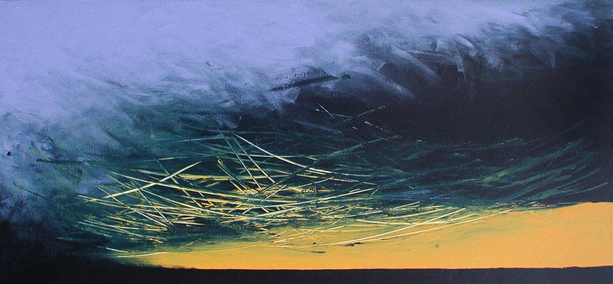 Was kommt ..., 140 x 50 cm, Acryl
