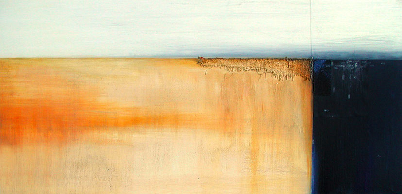 Horizont, 140 x 60 cm, Acryl/Mischtechnik auf Papier