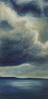 Stormy Weather l, 50 x 100 cm, Acryl/ Mischtechnik
